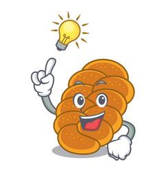 Have an idea challah mascot cartoon style vector