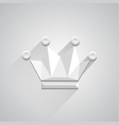 icon crown on white background vector image