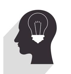In head silhouette vector