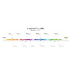 Infographic 12 months timeline diagram calendar vector