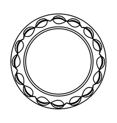 isolated award ribbon vector image