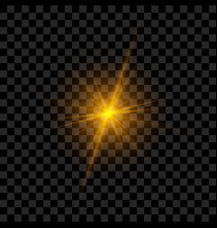 Light flash with rays and glowing vector