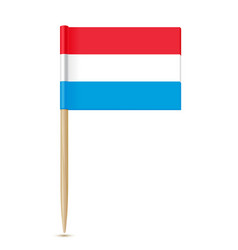 luxembourg flag toothpick vector image