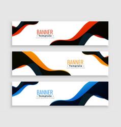Modern fluid style business banners set design vector