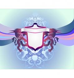 modern heraldry vector image