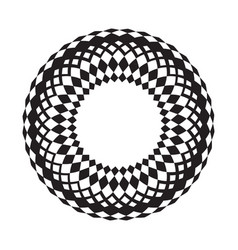 monochrome image of an unusual circle vector image