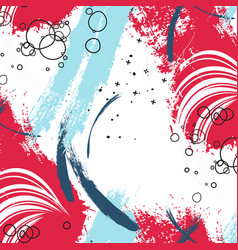 paint background poster stain trendy scrapbook vector image