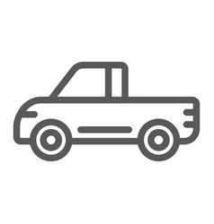 pickup line icon van and auto car sign vector image