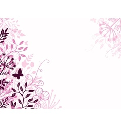 Pink and black floral background backdrop vector