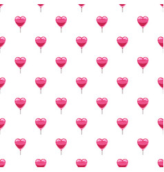 Pink heart balloon pattern vector