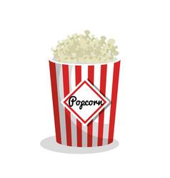 Pop corn movie icon vector