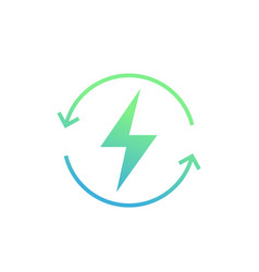 recharging icon on white vector image