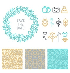 save the date design template vector image