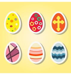 Set of color icons with Easter eggs vector