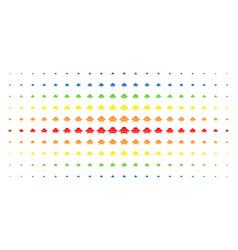 Space ship spectral halftone array vector
