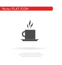 tea icon for web business finance and vector image
