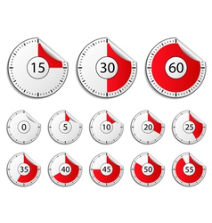 Timer stickers vector