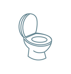 Toilet bowl linear icon concept toilet bowl line vector