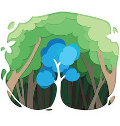 tree paper style vector image