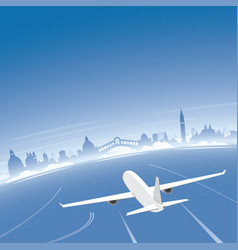 venice skyline flight destination vector image