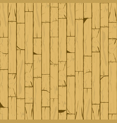 Vertical cracked bamboo wall background in vector