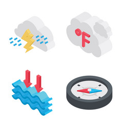Weather elements icons vector