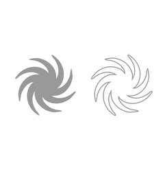 whirpool grey set icon vector image