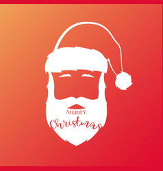 white silhouette of santa claus with vector image