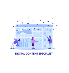 working digital content specialist flat banner vector image
