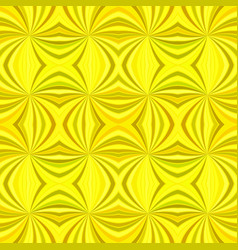 Yellow abstract hypnotic seamless striped vortex vector