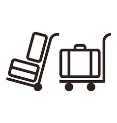 Baggage carts vector image vector image