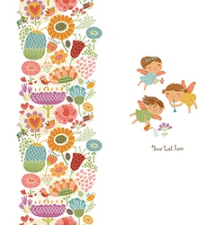 Cute pattern with fairies vector image