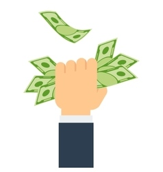 hand holds money vector image vector image