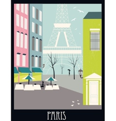 Paris street vector image