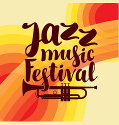 Poster for jazz festival live music with trumpet vector