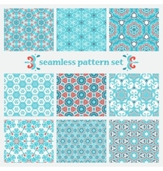 set of winter geometric pattern vector image