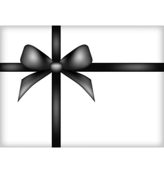 Black ribbon design eps 10 vector image