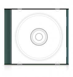 blank cd box vector image