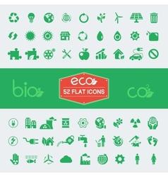 Ecology flat icon set vector