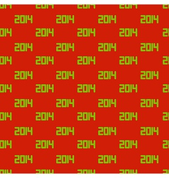 new year 2014 Seamless background Eps10 vector image vector image