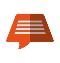Orange bubble speech dialogue talk color shadow vector