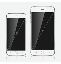Realistic white mobile apple iphone 6 plus vector image vector image