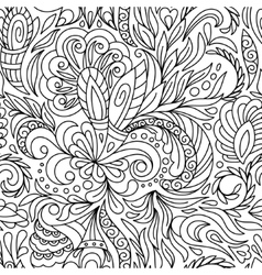 Seamless pattern for coloring book Ethnic vector image vector image