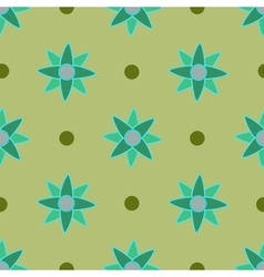 Flower seamless pattern 4 vector image