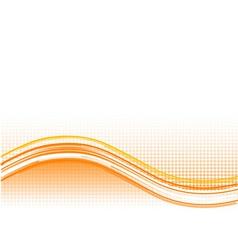 Orange wave background with lines vector