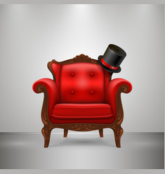 retro chair with cap vector image vector image