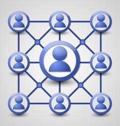 Social network icon vector