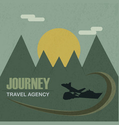 travel agency journey vector image