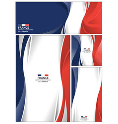abstract france flag background vector image