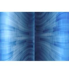 background blue stripes wave vertical vector image vector image